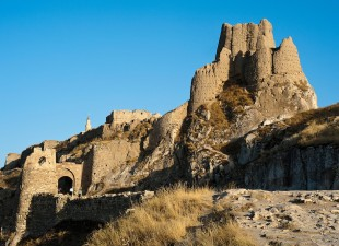 The 9th Century ruins of Van Castle (Kalesi), Van, Turkey